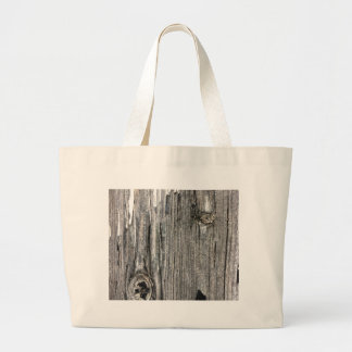 Aged wood fence posting from rustic bush setting tote bag