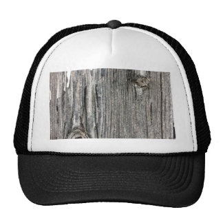 Aged wood fence posting from rustic bush setting trucker hats