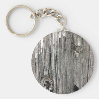 Aged wood fence posting from rustic bush setting key chains
