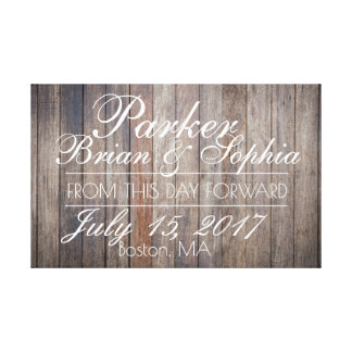 Aged Wood Wedding Canvas Print