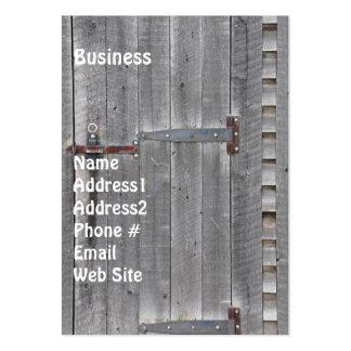 Aged Wooden Door Grunge Business Card