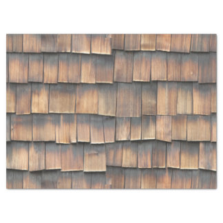 Aged Wooden Shingles Abstract Photography for Him Tissue Paper