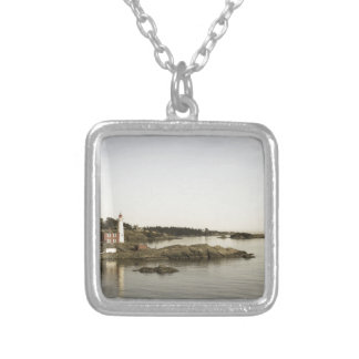 agedlighthouse silver plated necklace