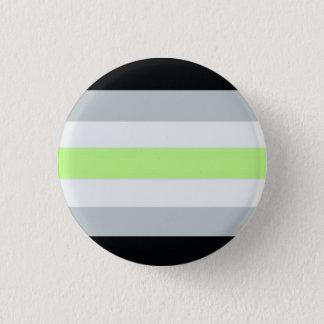 Agender flag 3 cm round badge