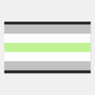 agender rectangular sticker
