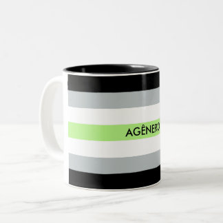 Agênero pride Two-Tone coffee mug