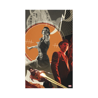 Agent Carter And Howard Stark Collage Canvas Print