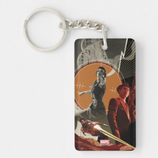 Agent Carter And Howard Stark Collage Key Ring