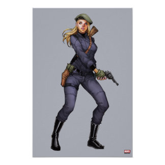 Agent Carter In Uniform Poster