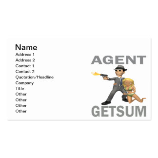 Agent Get Sum Business Card Templates