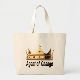 Agent of Change Large Tote Bag