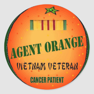 AGENT ORANGE CLASSIC ROUND STICKER