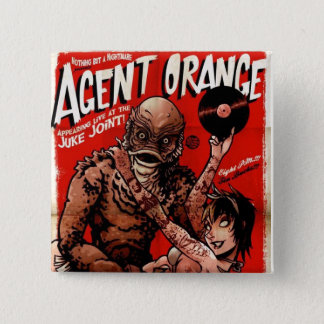 "Agent Orange ""Creature"" Punk Button - Square"