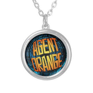"Agent Orange ""SpinArt"" Logo Necklace"