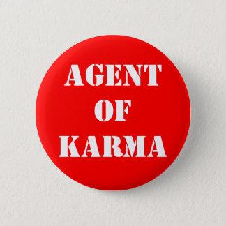 Agentof Karma 6 Cm Round Badge