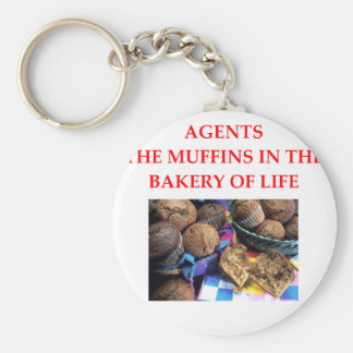 AGENTS BASIC ROUND BUTTON KEY RING