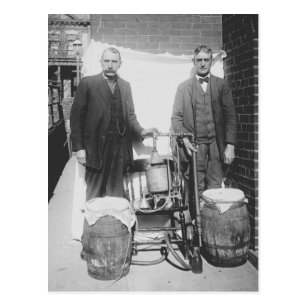 Agents Displaying Whiskey Still, 1920 Postcard