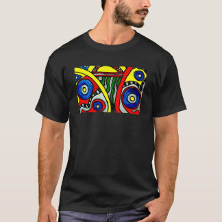 Aggelikiks Geometric Fun Design T-Shirt