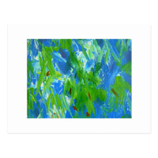 Aggelikis Abstract Forest Glow Postcard