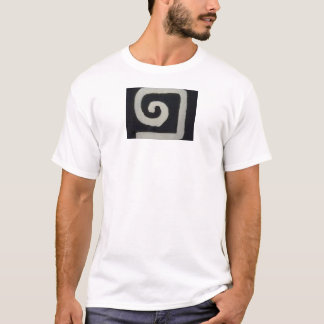 Aggelikis Black & White Logo Design T-Shirt