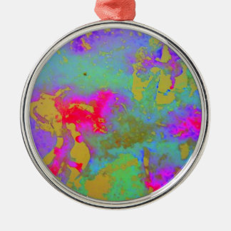 Aggelikis Blue Patterned Marbling Ornament