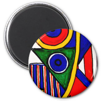 Aggelikis Geometric Pattern 6 Cm Round Magnet