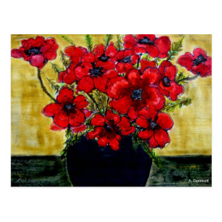 Aggelikis Glorious Red Anemones Postcard
