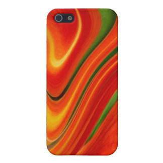 Aggelikis Orange & Green Swirl i-phone 4 Case iPhone 5/5S Cover
