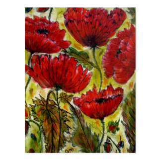 Aggelikis Poppies Postcard