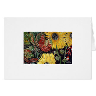 Aggelikis Sunflowers - 1 Note Card