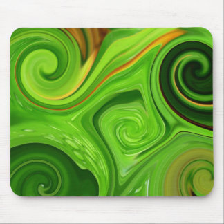 Aggelikis Swirls of Green Pattern Mouse Pad
