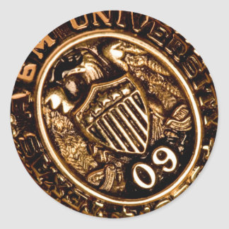 AGGIE RING PIC ROUND STICKER