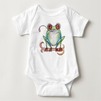 'Aggie' the red eyed tree frog baby apparel Baby Bodysuit