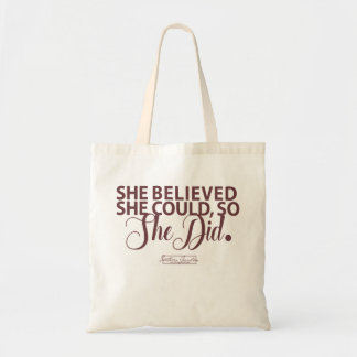 Aggies- She Believed She Could Tote Bag