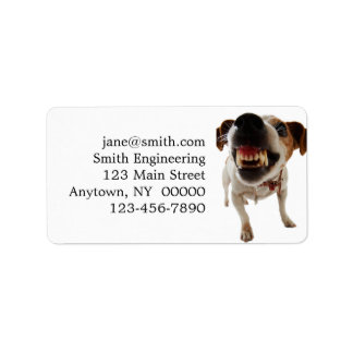 Aggressive dog - angry dog - funny dog label