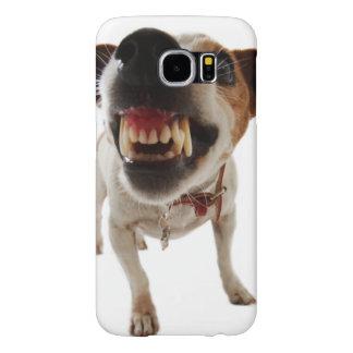 Aggressive dog - angry dog - funny dog samsung galaxy s6 cases