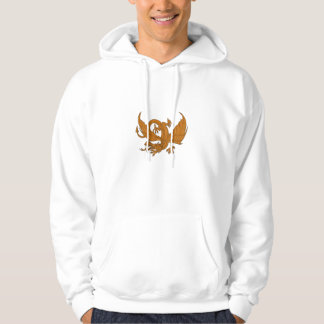 Aggressive Dragon Crouching Drawing Hoodie