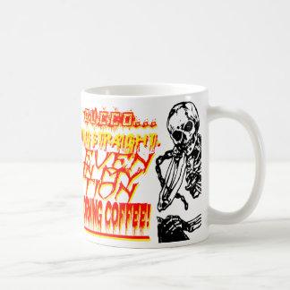 Aggressive Morning Coffee Mug with Skeletons