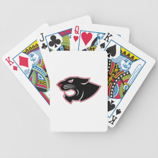 Aggressive Panther Head Icon Bicycle Playing Cards