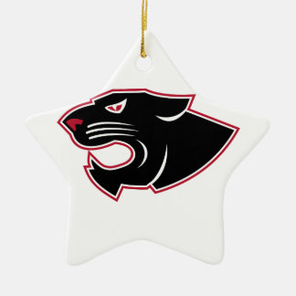 Aggressive Panther Head Icon Ceramic Ornament