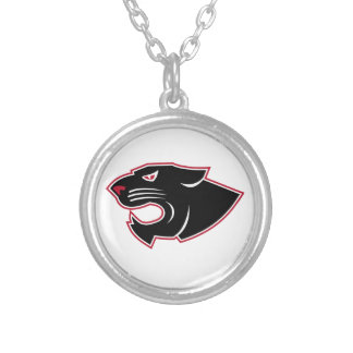 Aggressive Panther Head Icon Silver Plated Necklace