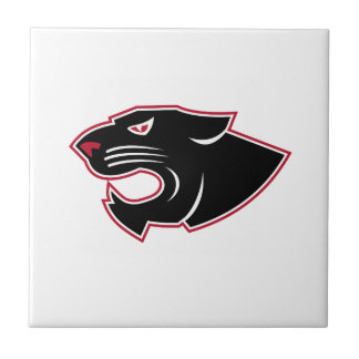 Aggressive Panther Head Icon Tile