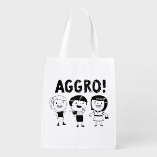 AGGRO Girls Reusable Grocery Bag