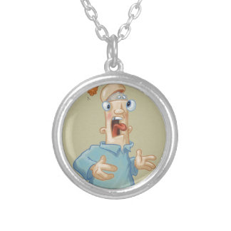 Agh! My Brain Is Escaping! Silver Plated Necklace