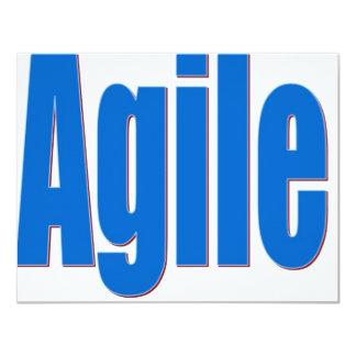 Agile 11 Cm X 14 Cm Invitation Card