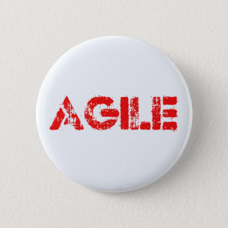 Agile agenda 6 cm round badge
