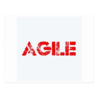 Agile agenda postcard