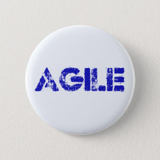 Agile BLUE 6 Cm Round Badge