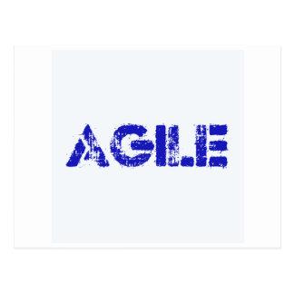 Agile BLUE Postcard