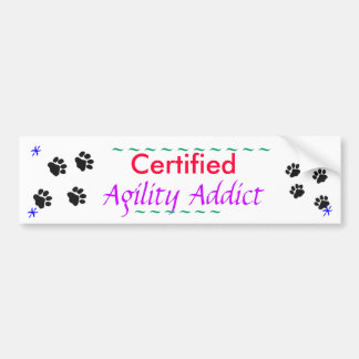 Agility Addict Bumper Sticker